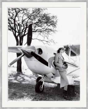 "Vogue Magazine, ""Keira Knightley Leaning on Plane"", Arthur Elgort, June 2007"