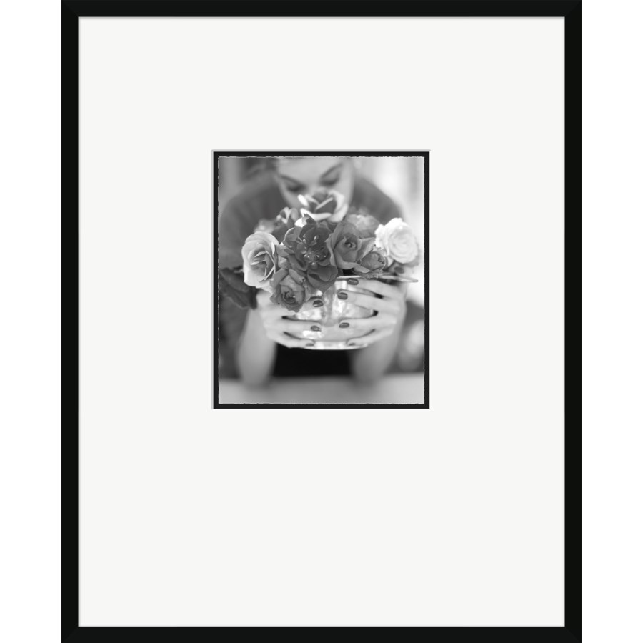 "House & Garden Magazine, ""Woman With Bouquet,"" Artist - John Rawlings, June 1, 1952"