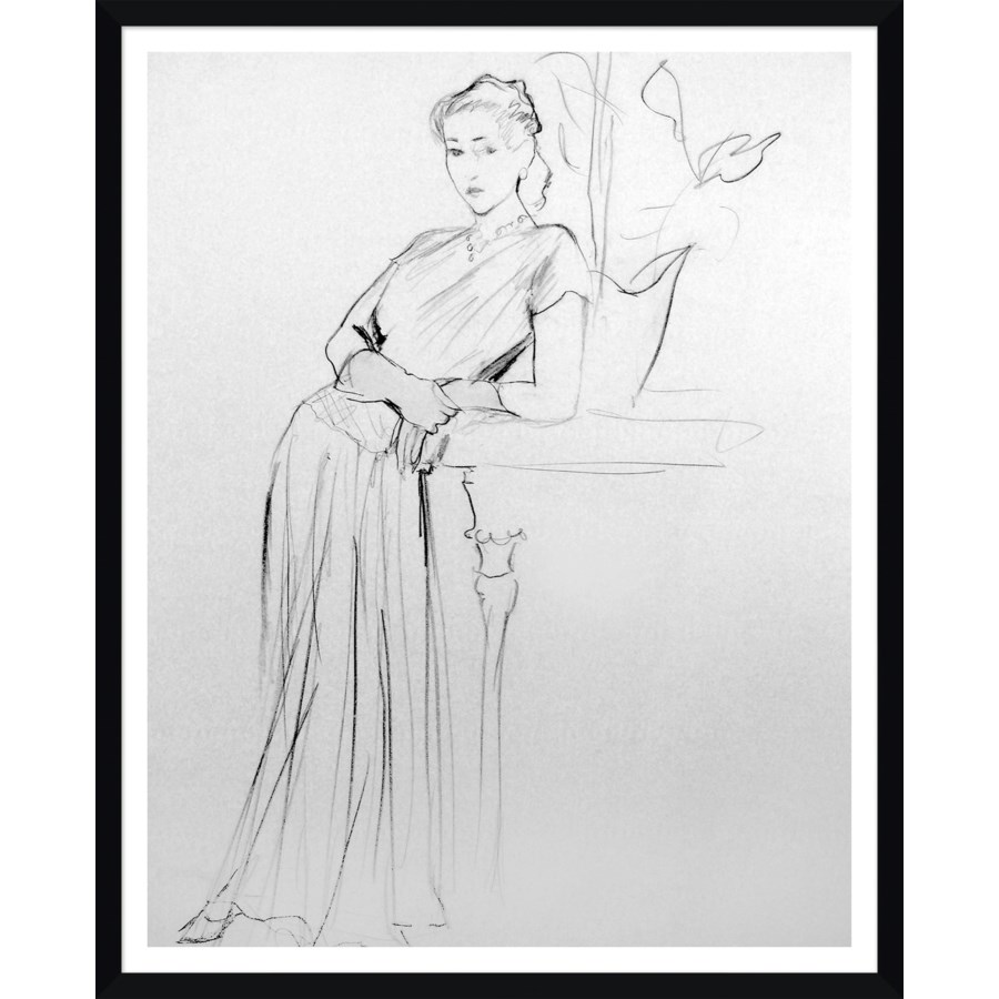 "Vogue Magazine, ""Illustration Sketch,"" Artist- Carl Erickson.."