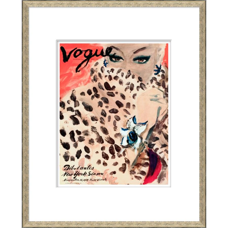 """Vogue Magazine Cover, """"Leopard Cat Woman"""""""