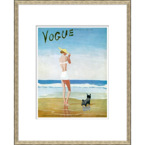 "Vogue Magazine Cover, ""Beach Dog Woman"""