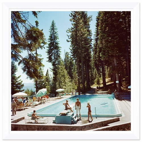 "Getty Images ""Pool at Lake Tahoe,"" Slim Aarons, January 1, 1959"