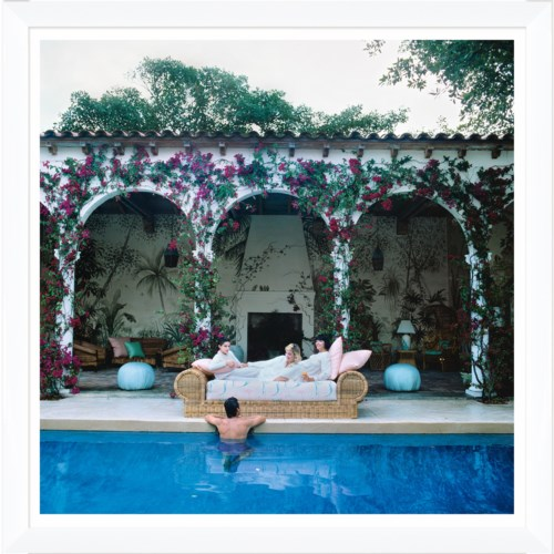 "Getty Images ""Sofa by the Pool,"" Slim Aarons, January 1, 1984"