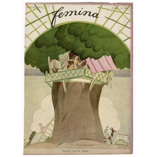 """Femina, July 1922"" Original Vintage French Magazine Cover"