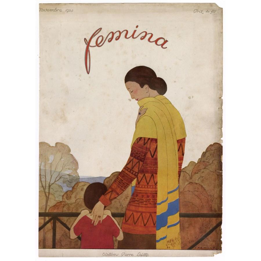 """Femina, November 1923"" Original Vintage French Magazine Cover"