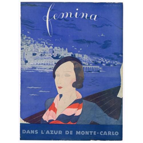 """""""Femina, January 1932"""". Original French Fashion Magazine Cover"""