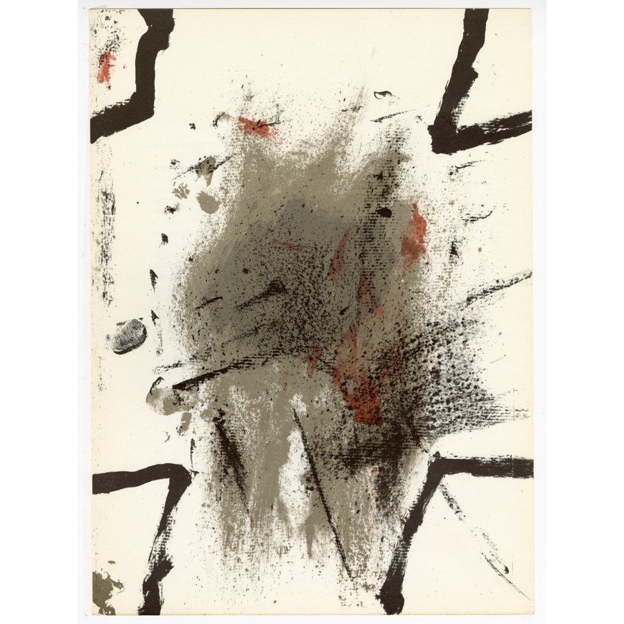 """""""Composition"""" Original Lithograph From Antoni Tapies From """"Derriere Le Miroir No. 175"""" (1968)"""