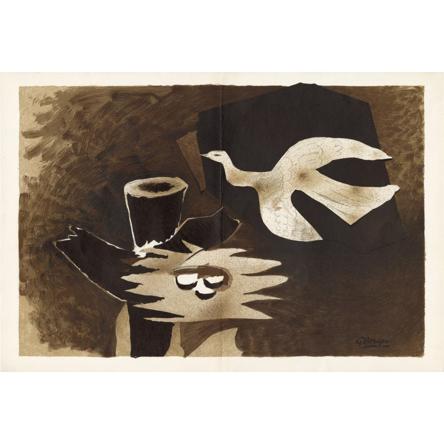 """""""Bird Returning to Its Nest"""" Original Lithograph by Georges Braque (1956)"""