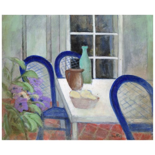 """""""Courtyard Still Life"""" Painting by Pierre Vauthey"""