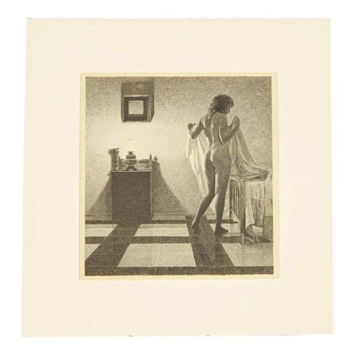 """Bedtime"" - Pointillism Painting by John Dillon Fillmore Circa 1983"