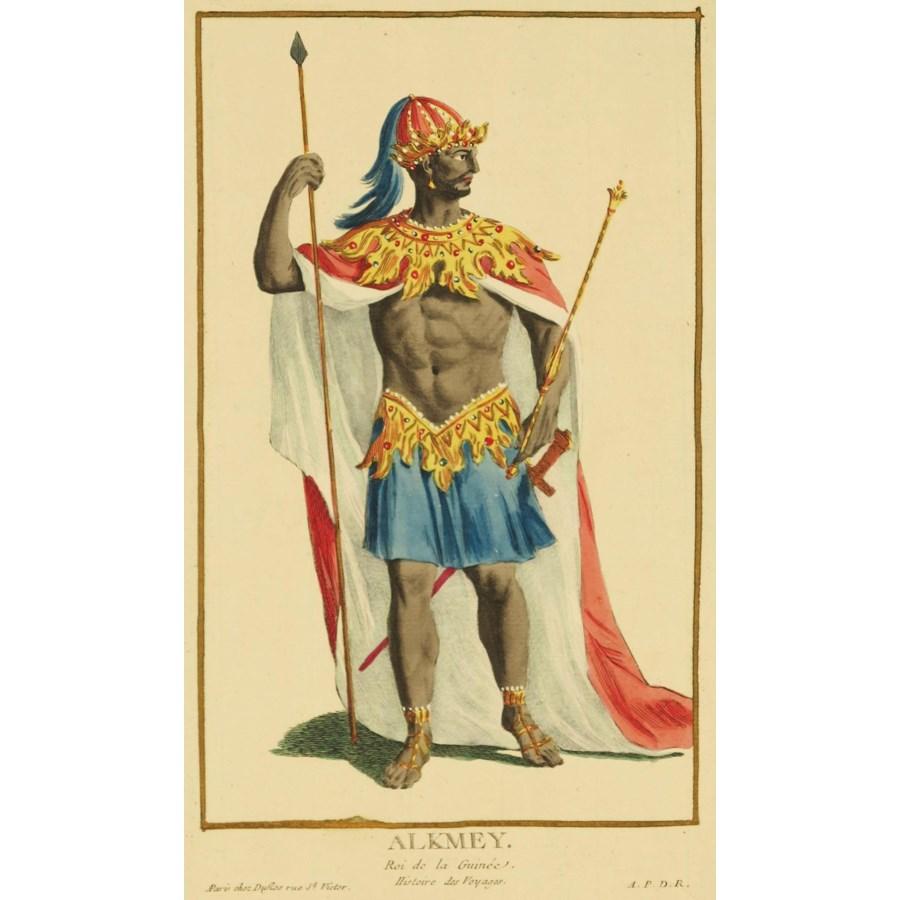 """Alkmey"" Hand-Colored Copper Etching by Pierre Duflos Circa 1780"