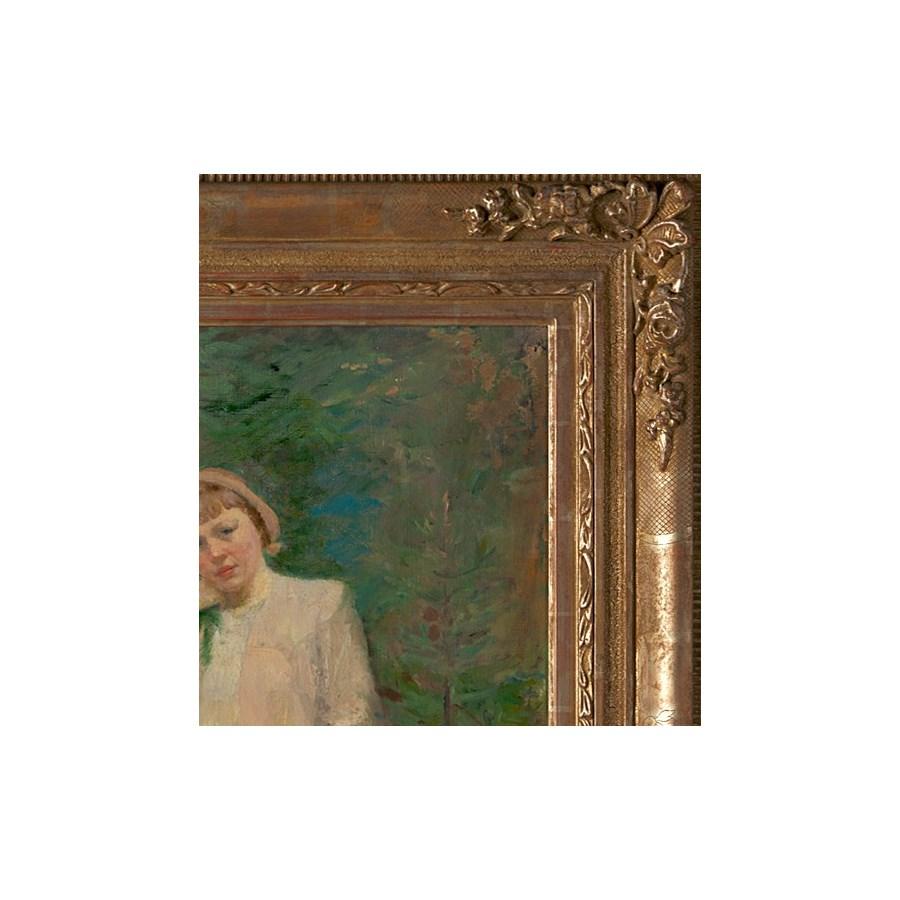 "Portrait of a Teacher"", Original Oil Painting by Mark Kaplan Circa 1956"