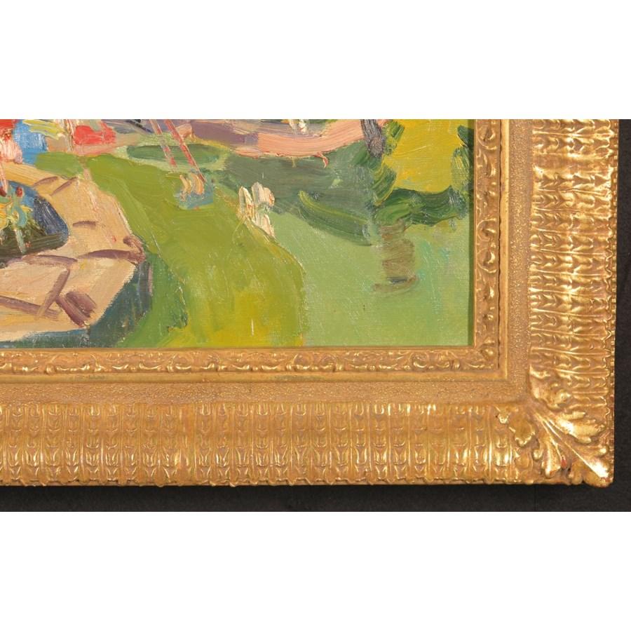 """""""Children's Ride"""", Original Oil Painting by v.f. Filipchenko Circa 1977"""