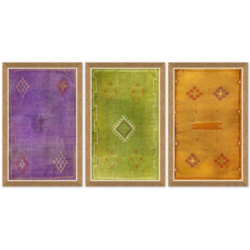 Moroccan Textiles - Purple, Green & Orange