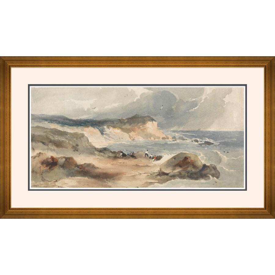 Coast Scene with Figures, Robert Brandard