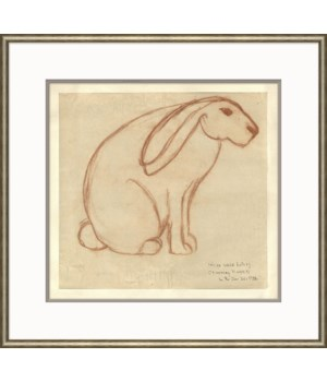 At the Zoo Sketch Series - Sepia Bunny