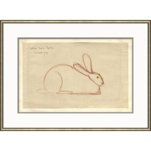 At the Zoo Sketch Series - Laying Bunny