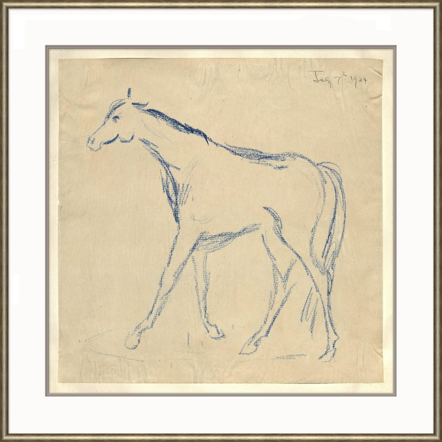 At the Zoo Sketch Series - Blue Horse