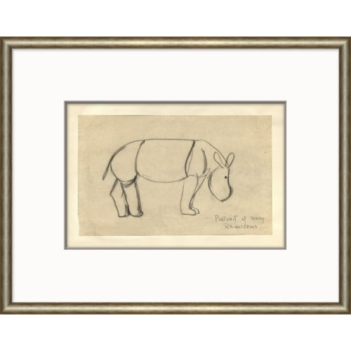 At the Zoo Sketch Series - Baby Rhino