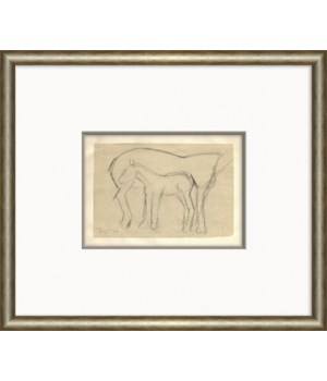 At the Zoo Sketch Series - Horse & Foal