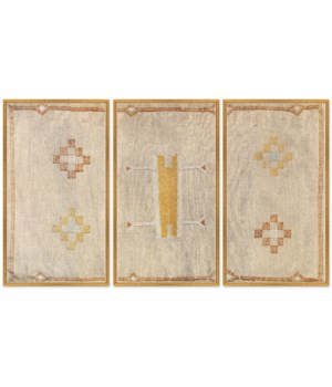 Moroccan Pillows Triptych in Taupe