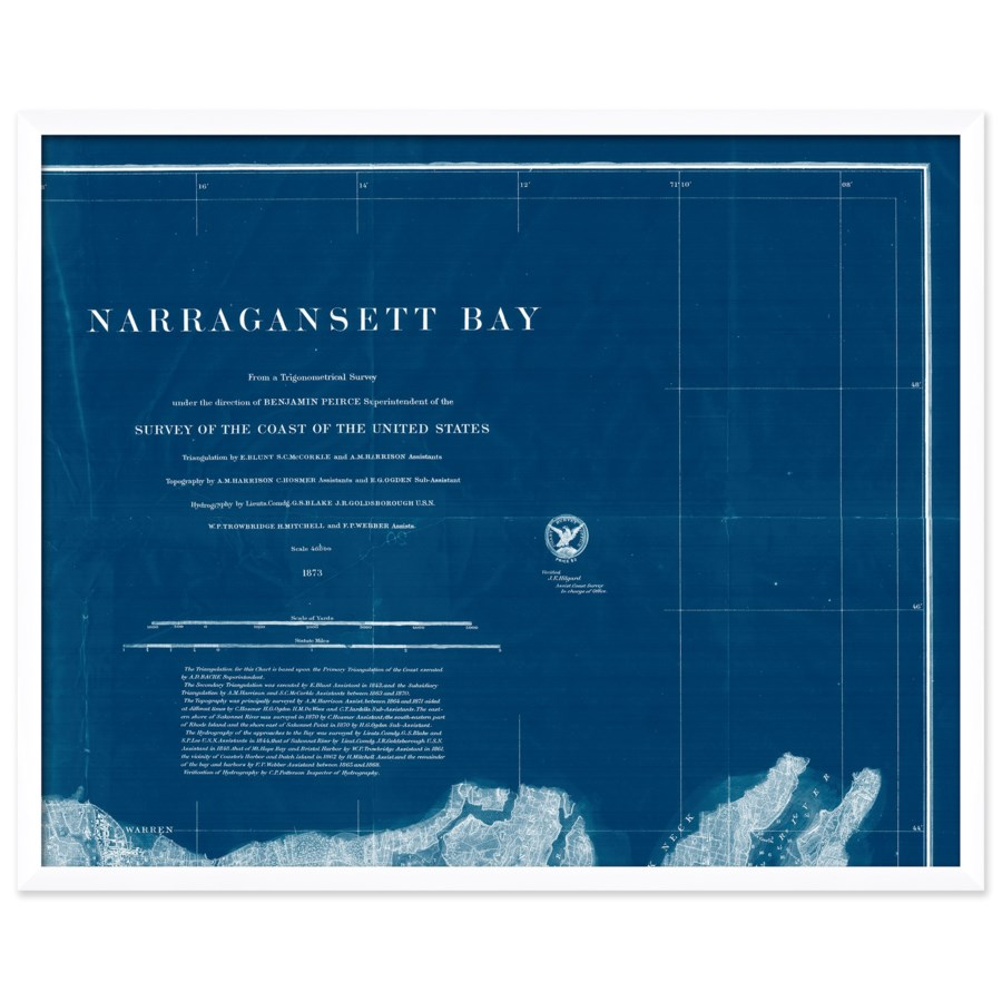 Narragansett Bay Map
