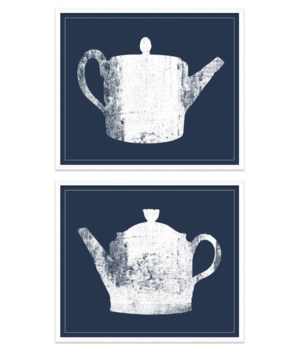 Blue & White Tea Pots