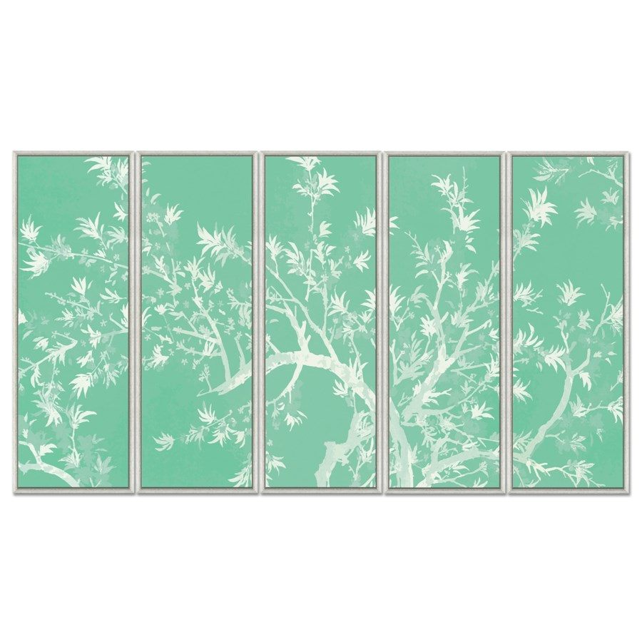 Mint and White Chinoiserie