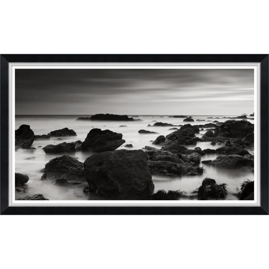 Black and White Rocks in the Sea II