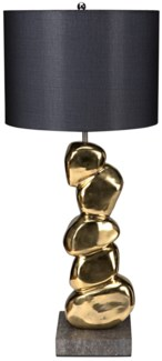 Remote Table Lamp with Shade, Brass