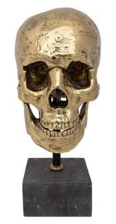 Skull on Stand, Brass