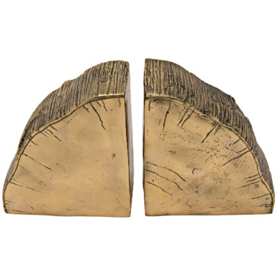 Z Fossil Bookends, Brass