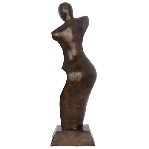 Z Isa Statue, Brass, Antique Finish As Shown