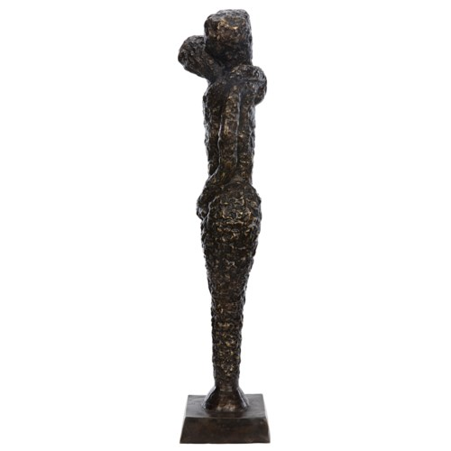 Z Sabana Statue, Brass, Antique Finish As Shown