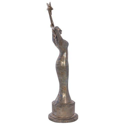 Husto Statue, Brass, Antique Finish As Shown