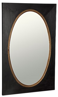 Royal Mirror, Charcoal Black with Gold Trim