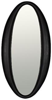 Woolsey Mirror, Charcoal Black