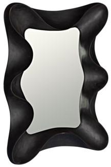 Concave Mirror, Charcoal Black