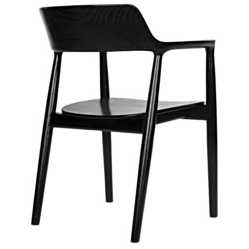 Laurel Chair, Charcoal Black