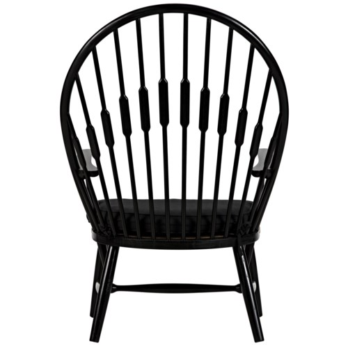 Spinster Chair, Charcoal Black