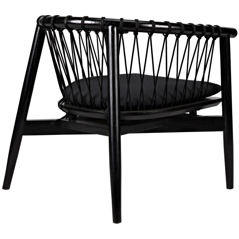 Hector Chair, Charcoal Black