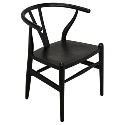 Zola Chair, Charcoal Black