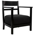 Churchill Chair, Charcoal Black