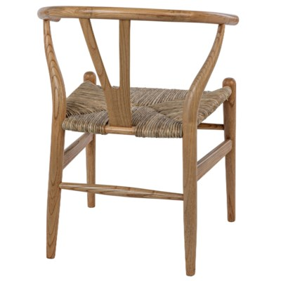 Zola Chair w/Rush Seat, Natural