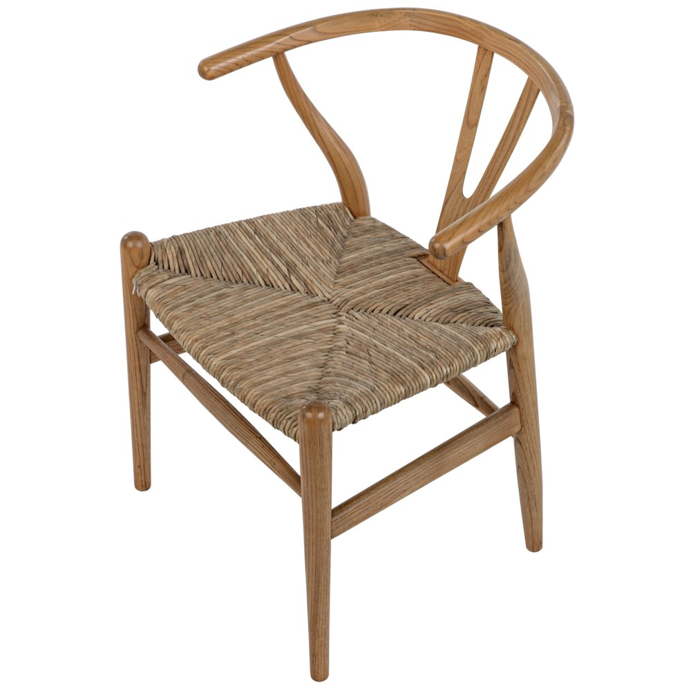 Zola Chair with Rush Seat, Natural