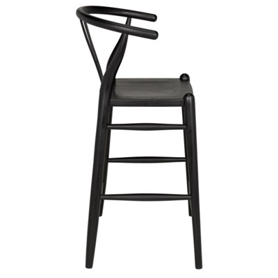 Zola Counter Stool, Charcoal Black