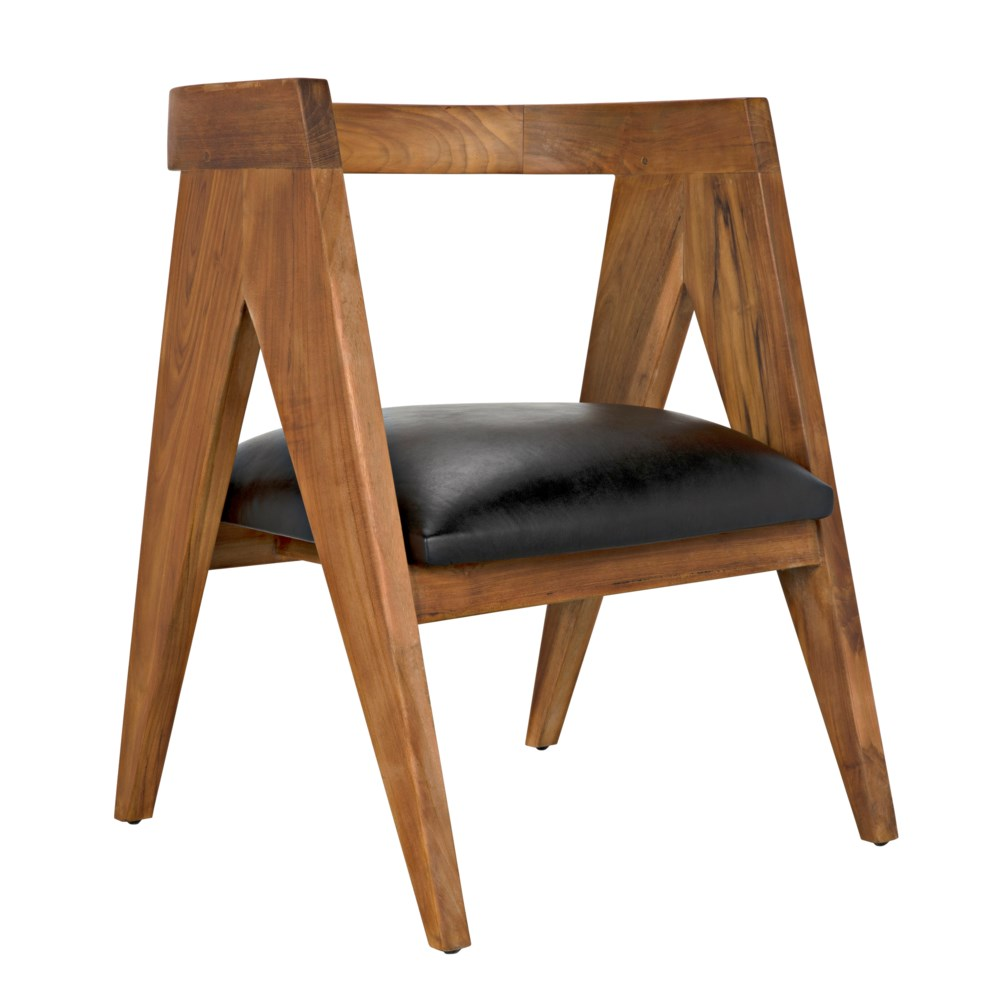 Nominee Chair, Teak w/Leather
