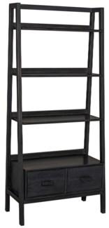 Johnson Bookcase, Charcoal Black