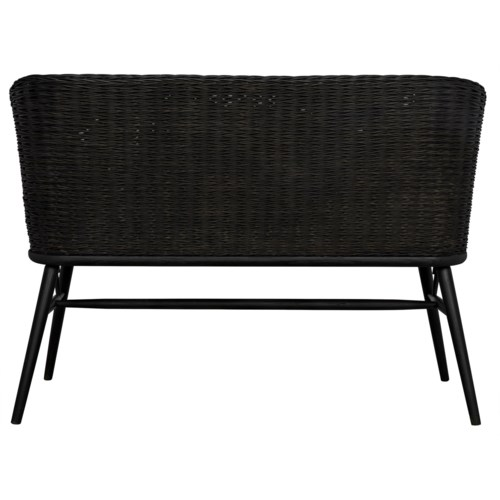 Curba Loveseat, Charcoal Black