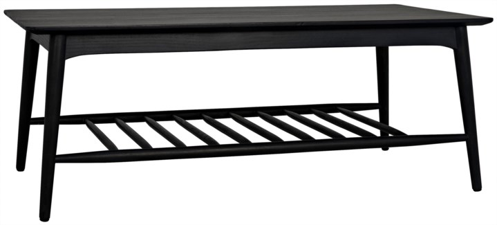 Carter Coffee Table, Charcoal Black